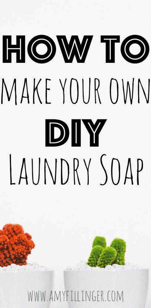 Want to be more environmentally friend and save money? Who doesn't? This DIY laundry soap recipe is my favorite! Learn how to make your own laundry soap in just a few simple steps.