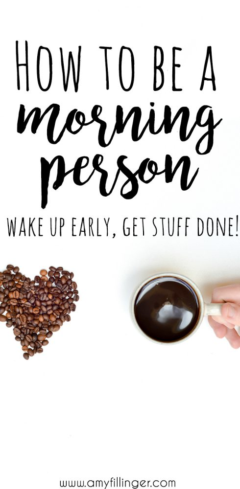 10 brilliant tips for how to be a morning person. Wake up earlier and have a more productive day!