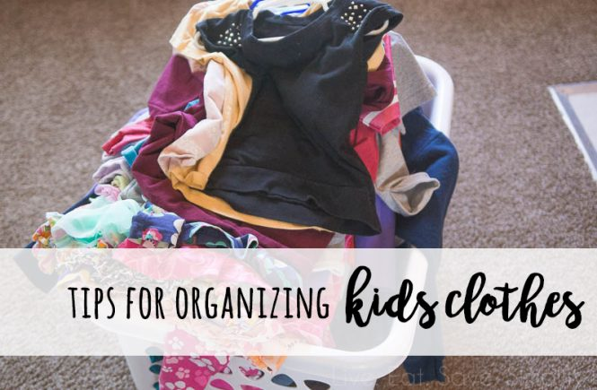 I finally found it! Everything that you ever wanted to know about how to organize kids clothes. Tips for organizing kids clothes, organizing kids clothes for later, and changing clothes out seasonally.