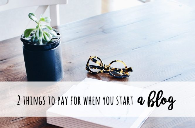 two things to pay for when you start a blog