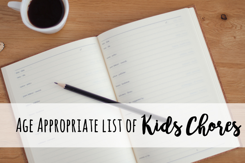 Age appropriate chores for kids + a free printable chore chart!
