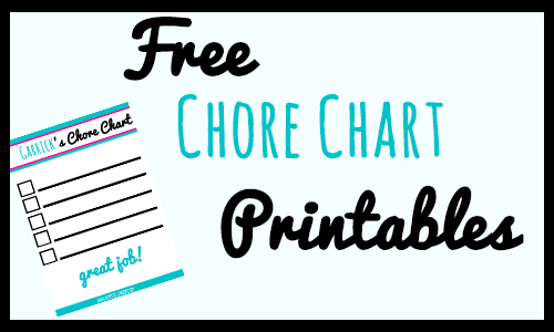 age appropriate chores for kids and free chore chart printable