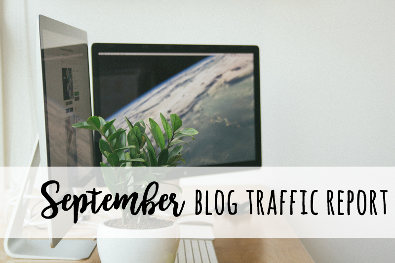September Blog Traffic Report + Stats and Goals