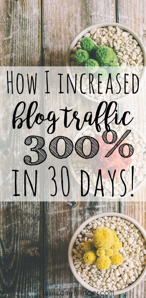 How I increased my blog traffic by nearly 300% doing ONE SMALL THING! If you're trying to grow your blog, you need to read my October blog traffic report!