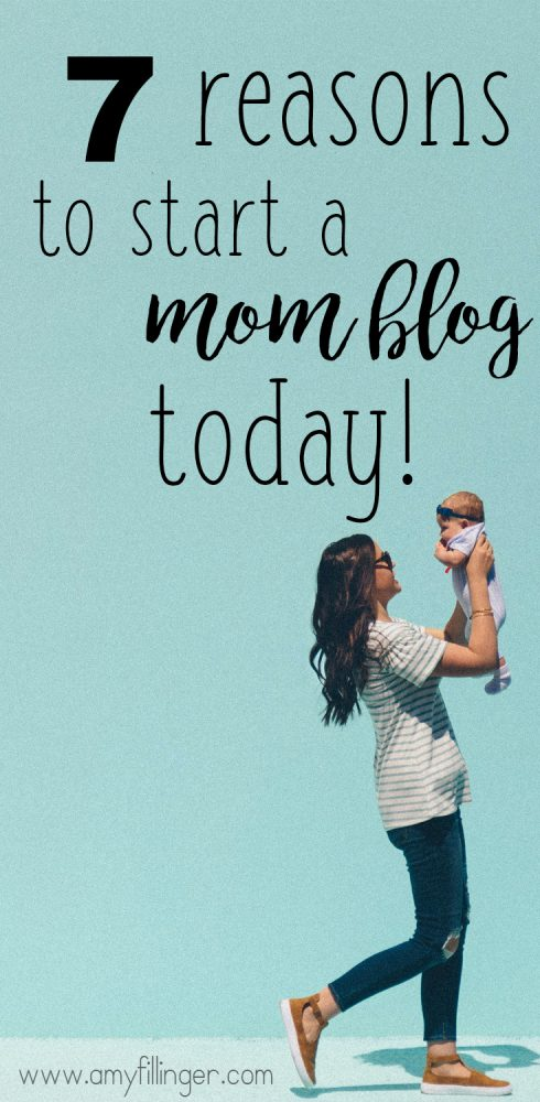 You need to read this! Thinking of starting a mom blog? Think there's too many out there already? Here are 7 awesome reasons to start a mom blog TODAY!