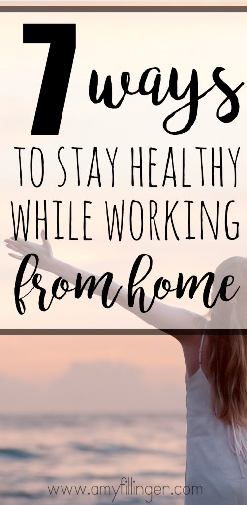Finally! I've been looking for how to stay healthy while working from home. These 7 easy tips for staying healthy while working at home are exactly what you need as a work at home mom.