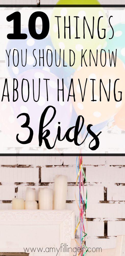 what it's like having three kids