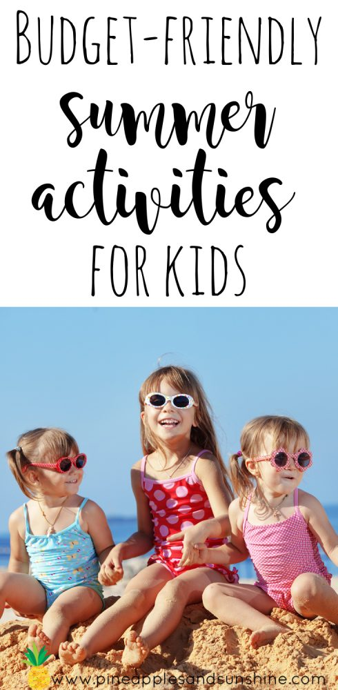 I love this! Are you looking for budget-friendly summer activities for kids? We all know that summer can be pricey, but it doesn't have to be! You are going to love these cheap summer ideas for kids, and the kids will love them too! #summeronabudget #cheapkidsactivities #cheapactivitiesforkids #budgetfriendlysummer #summeractivitiesforkids #funsummerideas