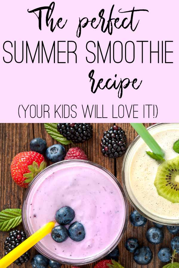 Looking for the perfect summer treat? This kid-friendly healthy smoothie recipe is a great snack or meal replacement in the summer.