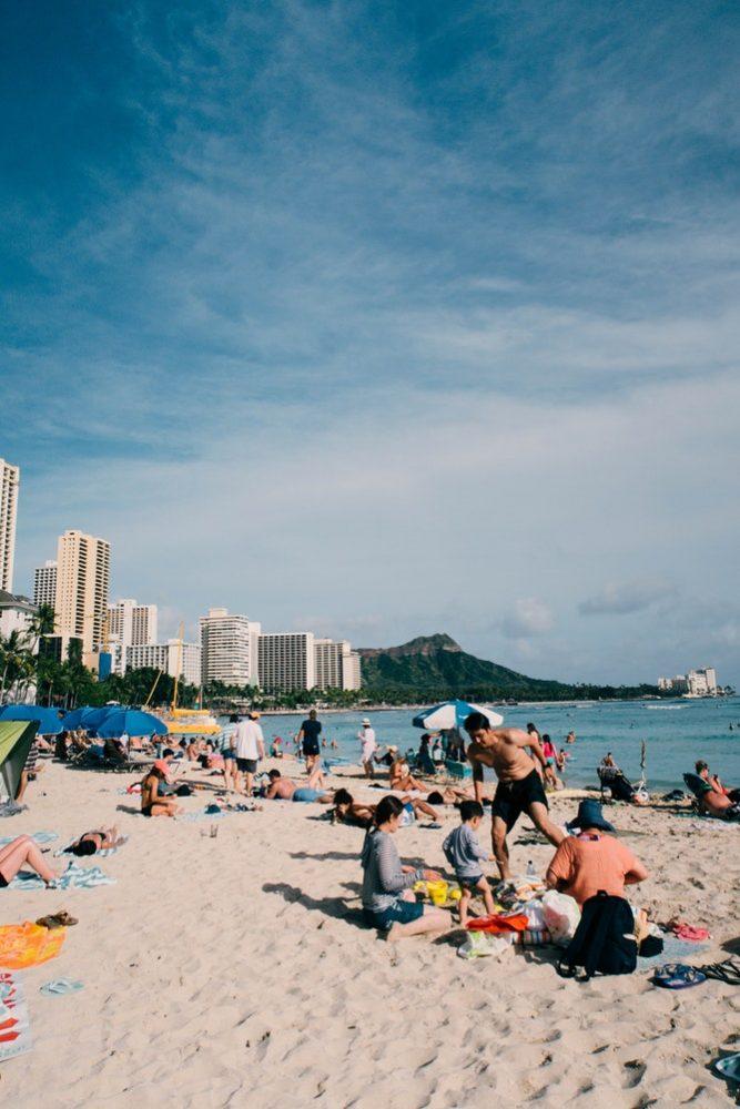 Waikiki Beach - best Hawaii island to visit