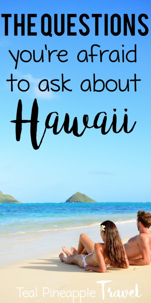 Are their roads connection the Hawaiian islands? Does it rain a lot in Hawaii? Will I get attacked by a shark in Hawaii? If you're wondering any of those things, you need to read the Hawaii FAQ - the questions about Hawaii that you're afraid to ask. If you're planning a Hawaii vacation and feeling overwhelmed, you need a Hawaii travel agent! Read the post for all the best Hawaii vacation tips. #hawaiitravelagent #hawaiifaq #questionsabouthawaii #thingstoknowabouthawaii #travelagent #findatravelagent #oahutravelagent