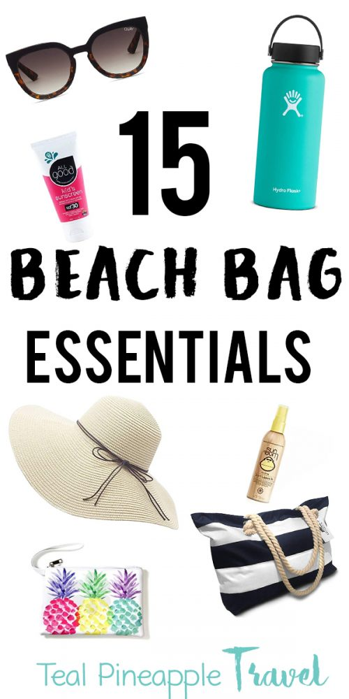 15 beach bag essentials that you won't want to forget on your next beach day. Everything you need for a full day at the beach. #travelagenttips #travelagent #hawaiitravelagent #floridatravelagent #beachday #beachessentials #whattotaketothebeach