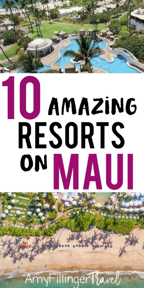 Heading to Maui? There's no shortage of choices on incredible resorts. Compiled by a Maui Travel Agent, these are the top 10 Maui resorts. If you want the perfect place to stay during your Maui vacation. you need to read this! #mauivacation #mauihoneymoon #mauihawaii #resortsonmaui #resortsinmaui #bestresortsinmaui #wheretostayinmaui #wheretostayonmaui