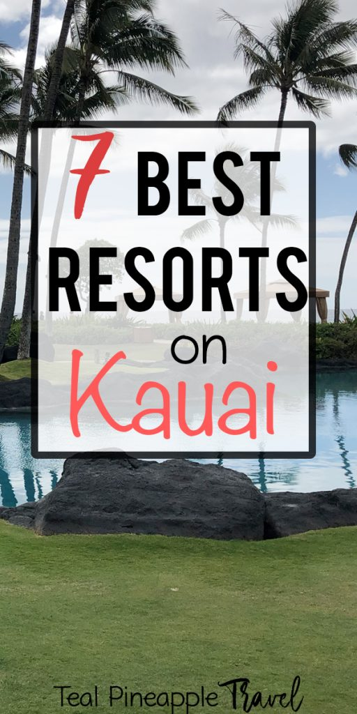 Dreaming of a Kauai vacation? Check out the 7 best resorts on Kauai. You have so many options on Kauai, from sunny Poipu to the beautiful North Shore. Check out this list to find the perfect resort on Kauai for you. #kauairesorts #kauaivacation #kauaihawaii #kauaitravelagent #hawaiitravelagent #besttravelagency #wheretostayonKauai #wheretostayinkauai