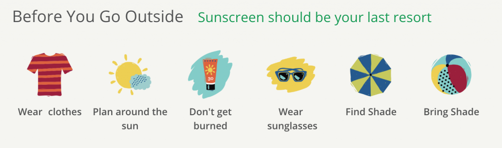 alternatives to sunscreen