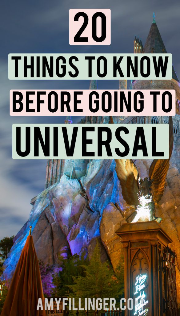 things to know before going to Universal