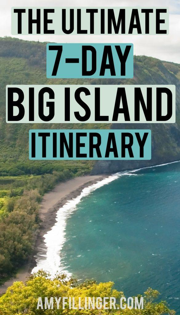 7-day Big Island itinerary