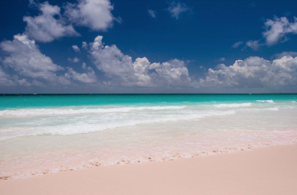 best honeymoon destinations | pink sand beach Bahamas