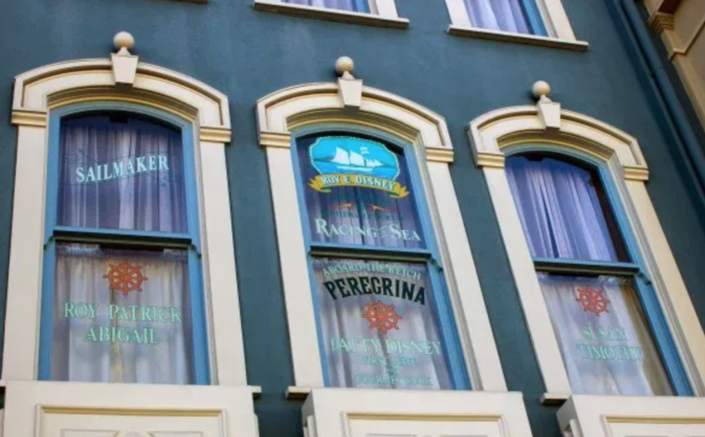 Disney secrets - names on Main Street windows
