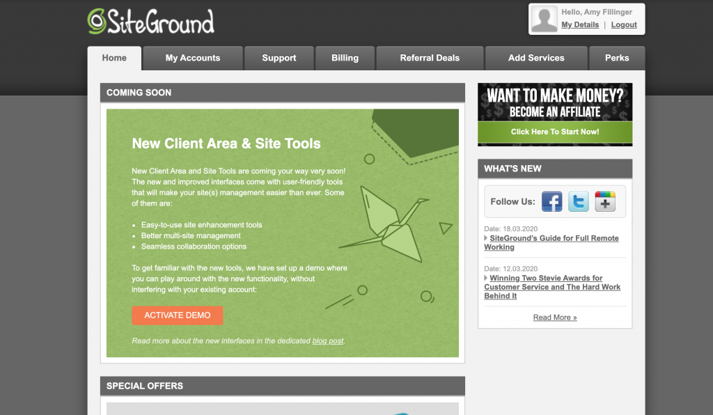 how to start a travel blog with Siteground