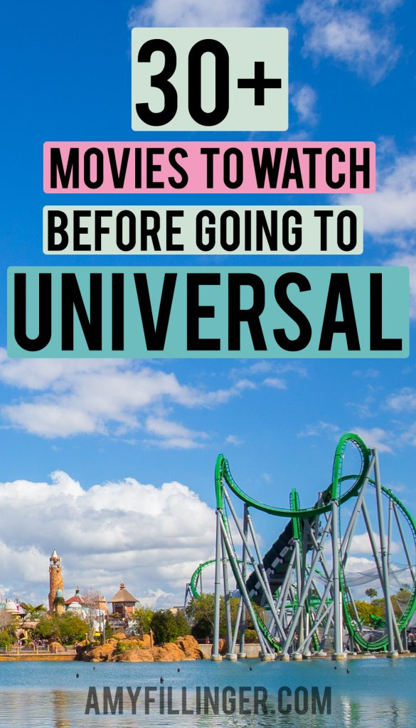movies to watch before going to Universal