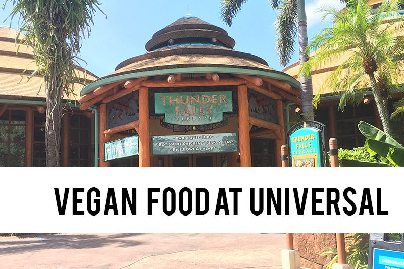 vegan food at Universal