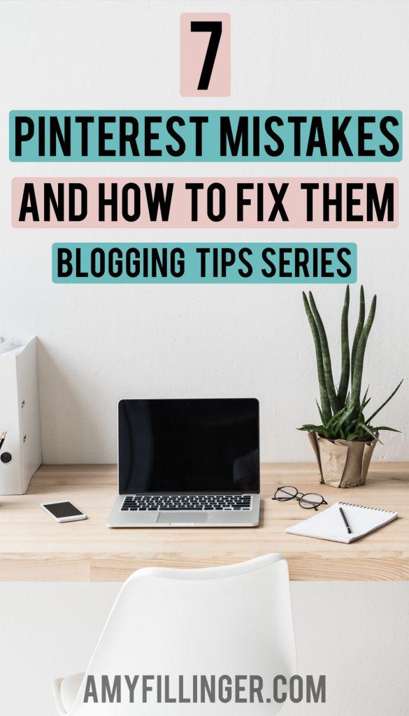 Pinterest mistakes bloggers make